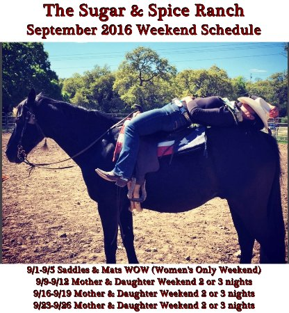 The Sugar & Spice Ranch : September 2016 Schedule