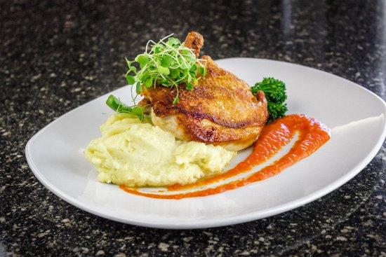 Zazios: Chicken // pan roasted Otto's chicken, yukon whip, broccolini, pepper-garlic