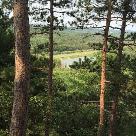 Camp Douglas, WI : a view of the pond from Mill Bluff