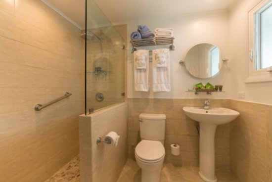 Windwardside, Isla de Saba: Ocean - view Bathroom