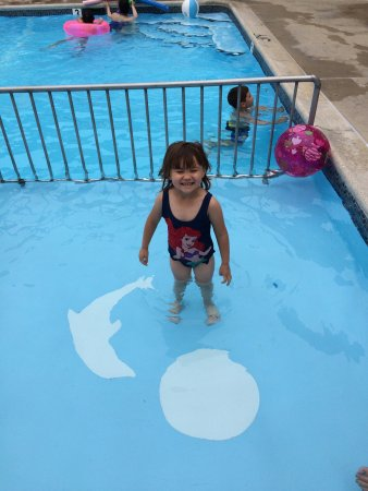 Florentine Family Motel: Alyssa having fun in the pool