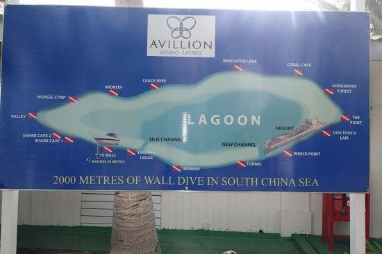 Avillion Layang Layang: Siti di immersione