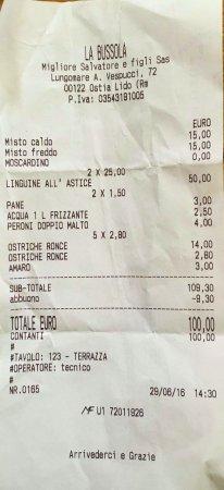 La Bussola: il conto (salato)