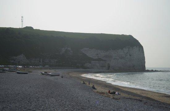 Yport, France: la spiaggia e la falesia