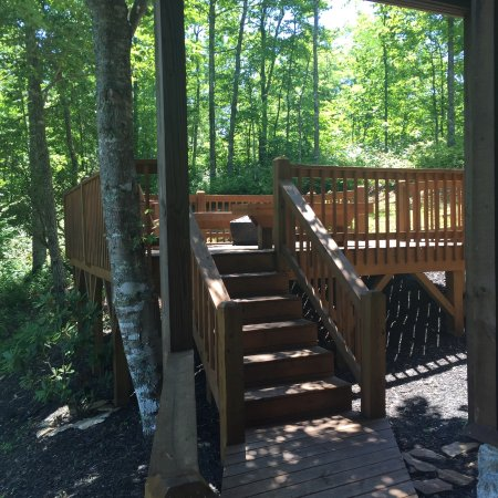 Almond, NC: Side Deck with Fire Pit & Seating