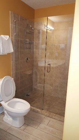 Ocean Villa Condos: Shower in master bath in 1103