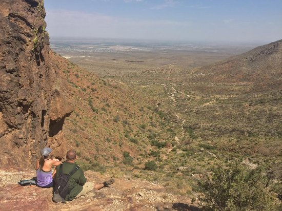 Franklin Mountains State Park: View from the top of the aztec caves