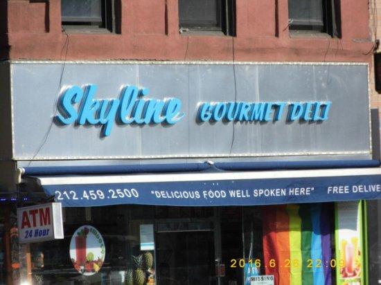 Skyline Hotel : Skyline deli across the road open 24/7