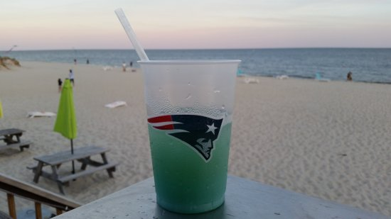 Blue Water on the Ocean: A relaxing beverage with a view