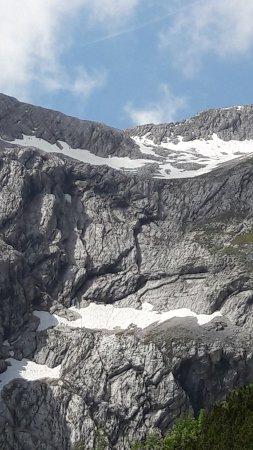 Kletterer auf dem Weg zur Alpspitze