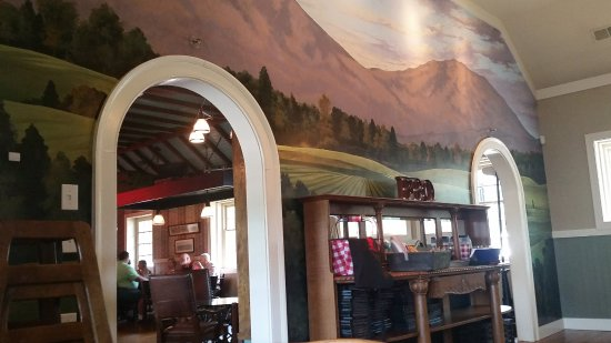 Olde Liberty Station Mural On The Wall In Main Central Dining Area