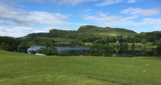 Ford, UK: View from the bedroom window of Loch Ederline
