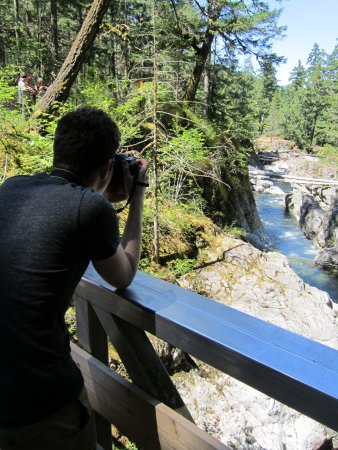 Little Qualicum Falls Provincial Park: Photos from bridge, lower falls