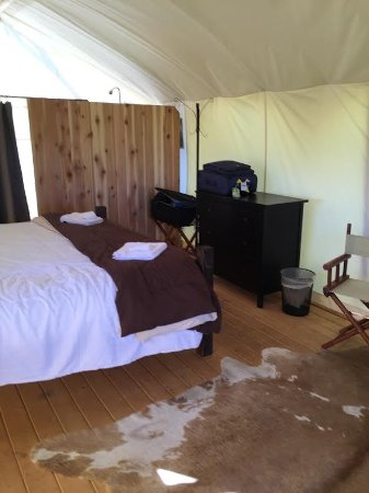 wood stove included in all tents - Picture of Under Canvas