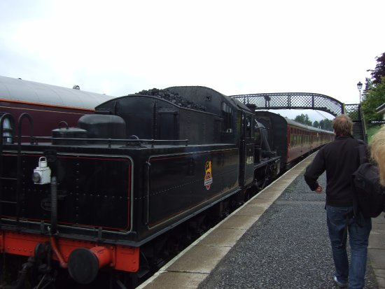 Boat of Garten United Kingdom  City pictures : Our Steam Train arrives at Boat of Garten The Royal Scotsman is ...