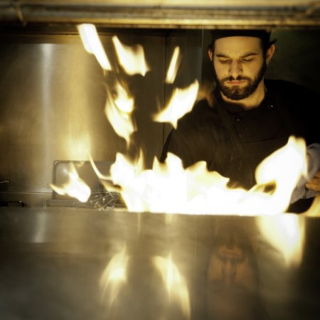 Rio Rancho, NM: Nick Guzzardi sautéing at Joe's Pasta House