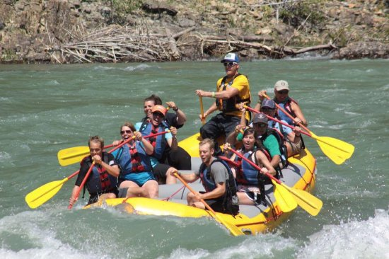 Glacier Raft Company: Our guide, Justin Stevens, did a great job navigating us through some exciting Level 2-3 rapids!