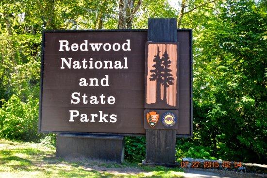 Redwood National Park Entrance Sign
