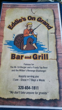 Cold Spring, MN: Restaurant from the dock and menu cover