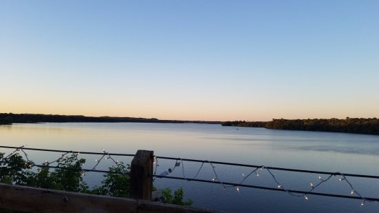Menomonie, WI: Lake Menomin as viewed from the deck of The Waterfront