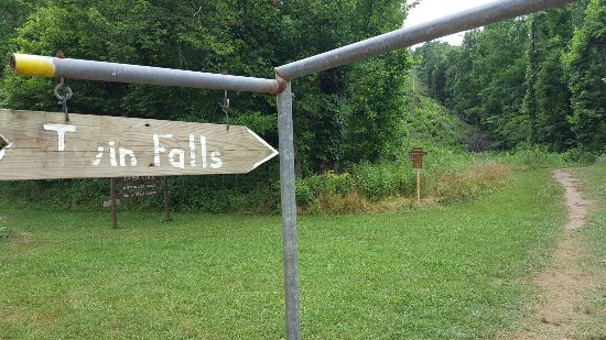 Twin Falls/Triple Falls at Camp Orr - please follow signs, warnings, & posted rules.  No alcohol