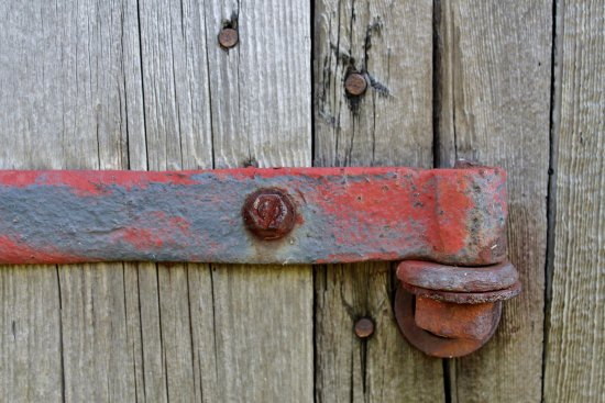Shaftsbury, Βερμόντ: Hinge on barn.