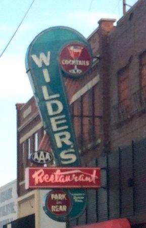 Wilder's Steakhouse: Original Wilder's sign