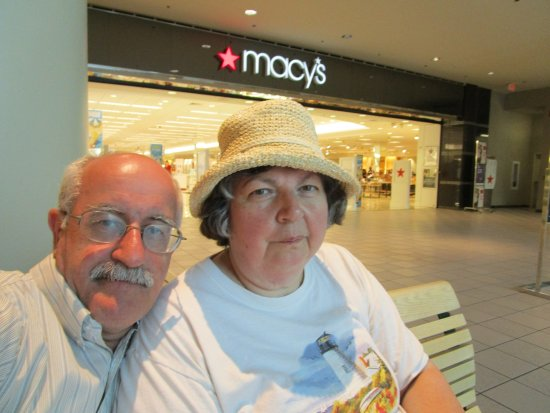 North Attleboro, MA : Sitting on the bench after walking around the mall.