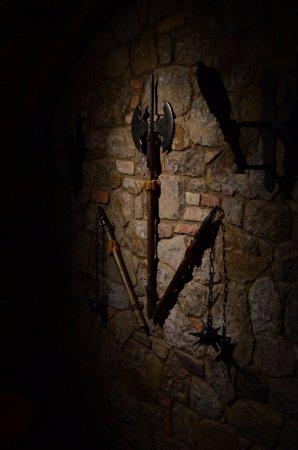 Castello di Amorosa: in a hall beneath the castle