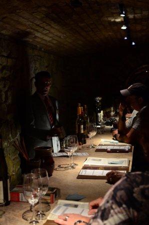 Castello di Amorosa: tasting bar