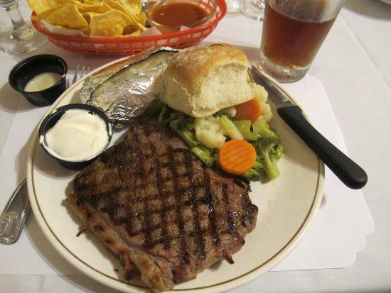 Douglas, AZ: Sirloin Steak includes Baked Potato, Vegetables, Salad & Bun
