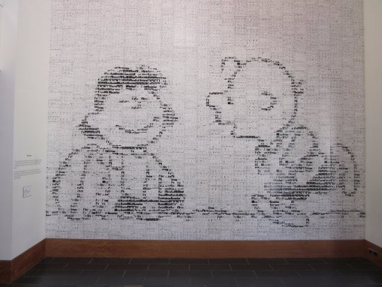 Charles M. Schulz Museum : Wall sized mosaic