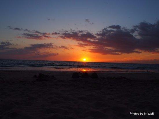 Hapuna Beach: ハプナビーチのサンセット