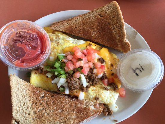 Chetek, WI: Yummy breakfast! Pancakes, spudniks, and the best Mexican omelette!