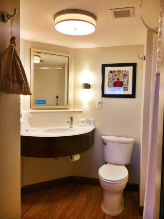 Hampton Inn Buffalo-Airport/Galleria Mall: Great Hotel - bathroom design outstanding. And every little detail was considered ie: easy to us