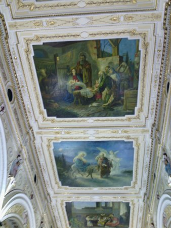 San Pedro de los Milagros, Kolumbia: Murals on the ceiling of the Basilca