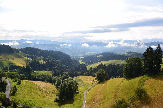 Emmenmatt, Schweiz: Aussicht von Zimmer 61