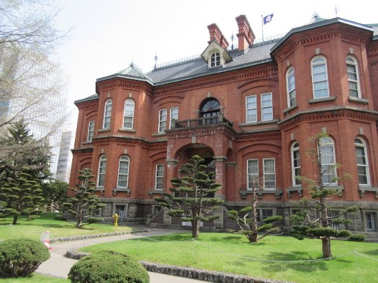 Former Hokkaido Government Office Building: 外観。レンガづくり。