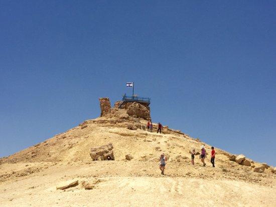 Mitspe Ramon, อิสราเอล: Многослойный с разноцветными песками кратер Рамон . Красавец .