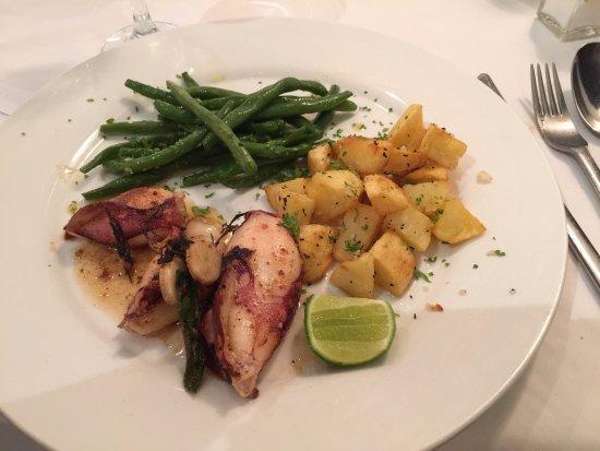 Ocean: Grilled squid on prix fixe lunch