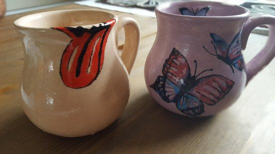 Pot-A-Doodle Doo: The mugs we painted!