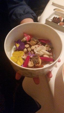 Pierre Gagnaire: une des magnifiques assiettes