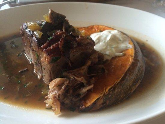 The Cellar Restaurant: slow roasted lamb shoulder