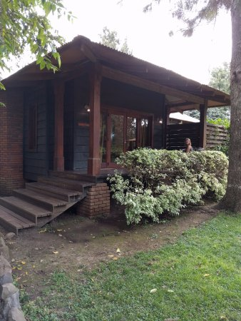 Arusha Coffee Lodge: External view of our accommodation - note the veranda seating area.