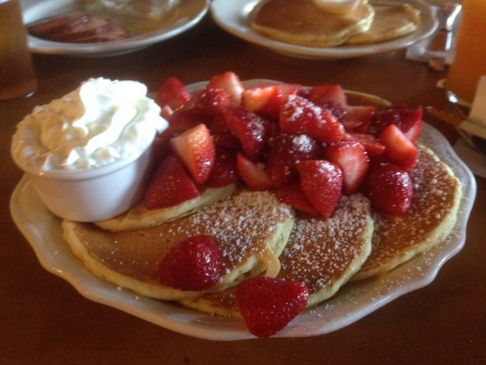 Pancakes with strawberries and cream. - Picture of Original Pancake ...