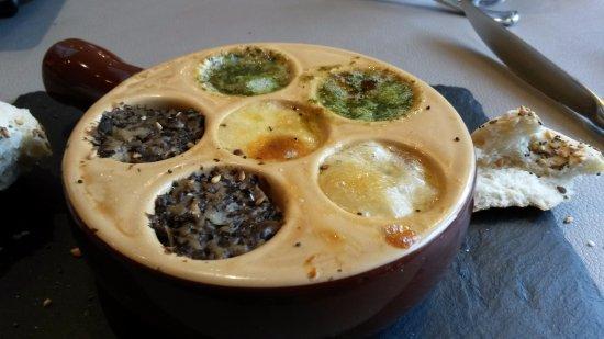 Restaurant le Cygne: escargots en entrée