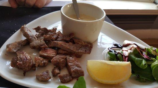 Bedfordshire, UK: Steak strips w/ mushroom sauce