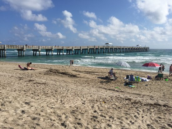 Lake Worth Beach: A good size concrete pier built after the last hurricanes. The beach is huge.