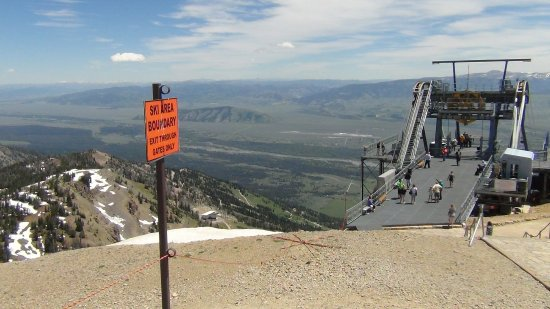 Jackson Hole Aerial Tram: At the top of the mountain overlooking Jackson Hole.