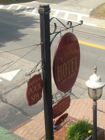 The Grand Hotel: Look for this sign to locate hotel.